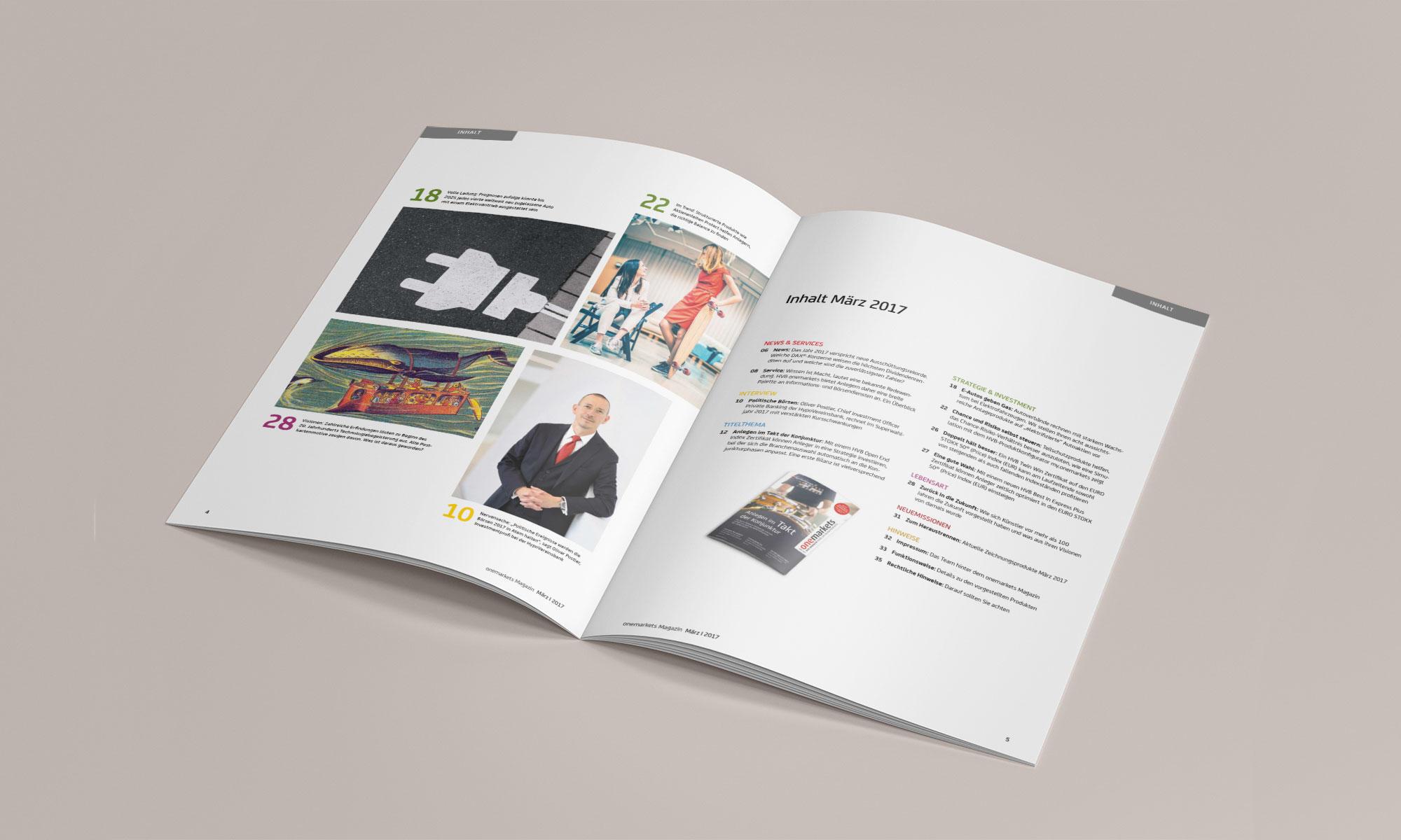 onemarkets Magazin Inhalt